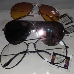 Accessories - CLEAR SUNGLASSES 3 PAIR of sunglasses
